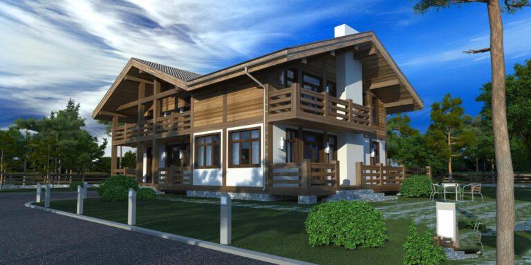 Timber frame house #001