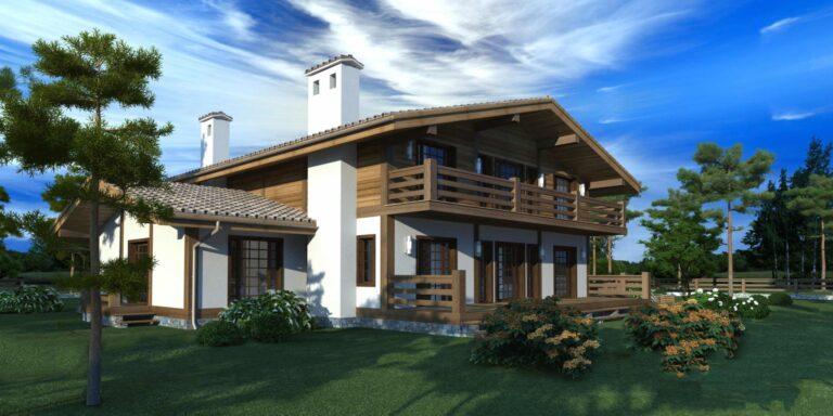 Timber frame house #002