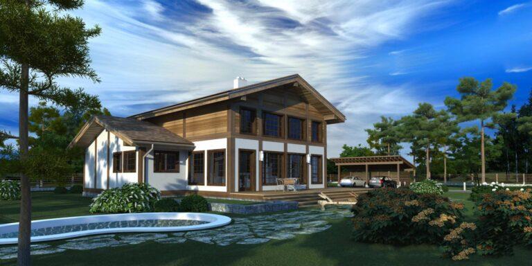 Timber frame house #003