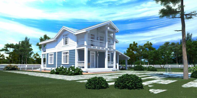 Timber frame house #004