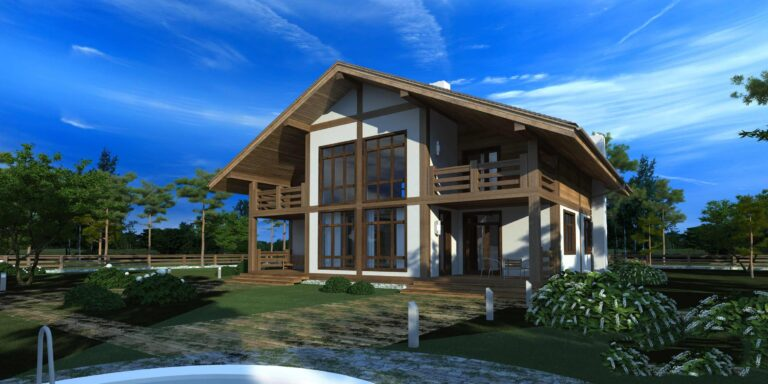 Timber frame house #005