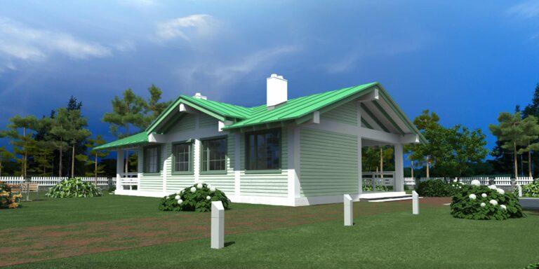 Timber frame house #007