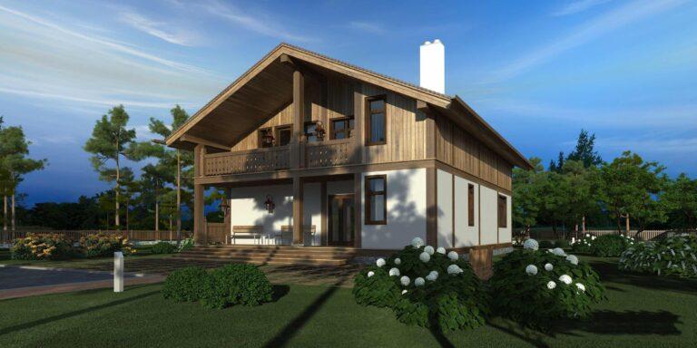 Timber frame house #008