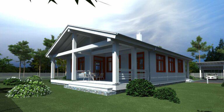 Timber frame house #009