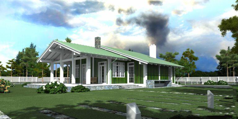 Timber frame house #010