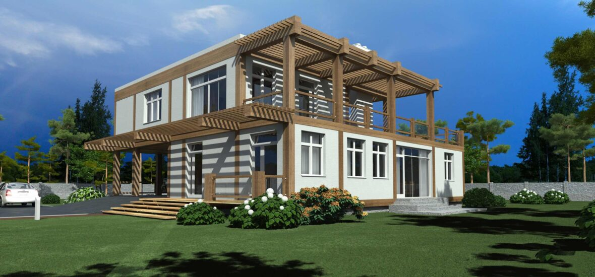 Timber frame houses