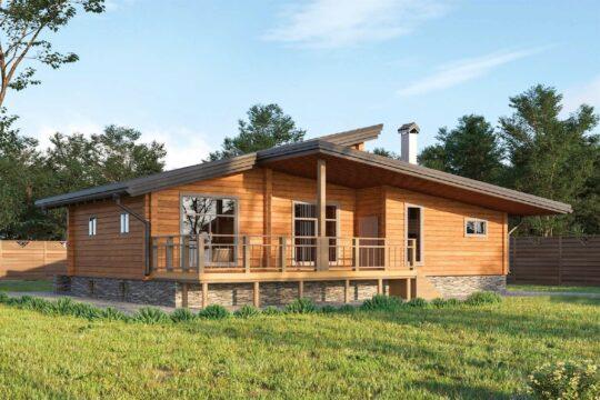 Log Bath House #BN-105