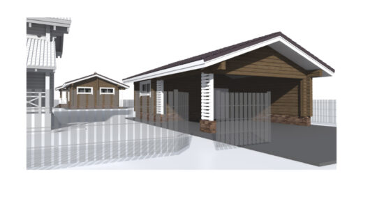 Garage with utility room and carport: LG-57