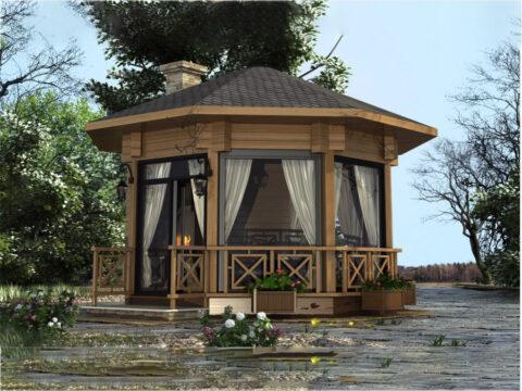 Log garden house GH_8-1