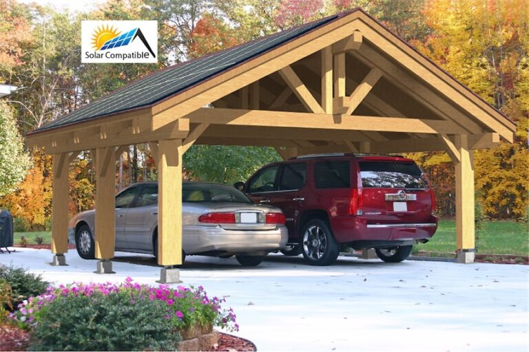 Heavy Timber Carport #NB-53 (24′ x 24′)