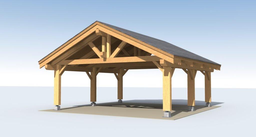Nb 53 Heavy Timber Carport 24 X 24 Ecohousemart