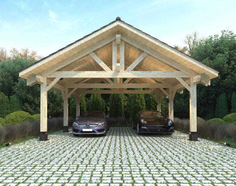 Heavy Timber Carport #NB-44 (22′ x 20′)