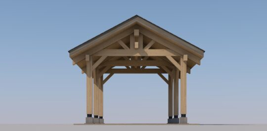 Heavy Timber Carport #NB-31 (13′ x 24′)