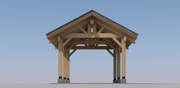 Heavy Timber Carport #NB-31 (13′ x 24′)