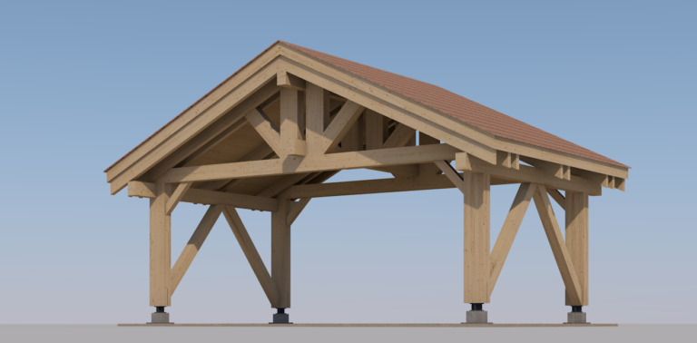 Heavy Timber Carport #NB-33 (24′ x 13′)