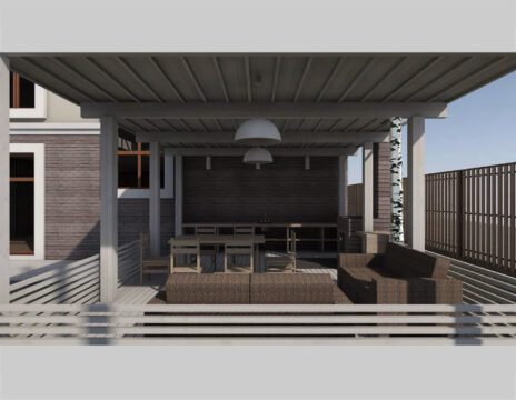 Heavy timber barbecue addition TF-25