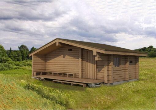 Log Bath House #BN-30