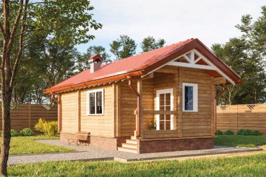 Log Bath House #BN-030