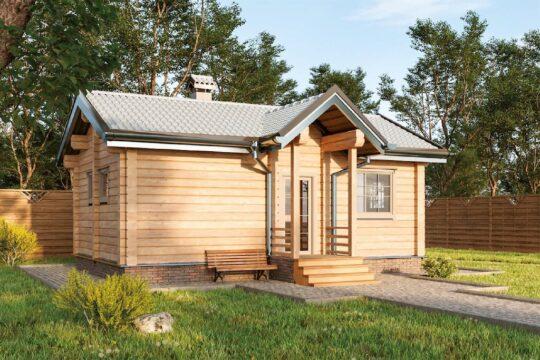 Log Bath House #BN-055