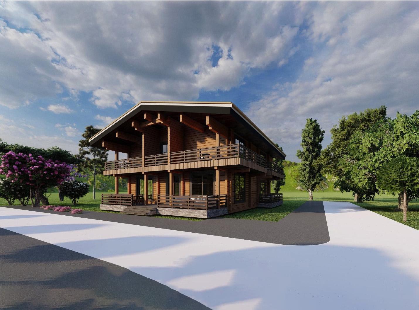 Log house #342 Mini Hotel