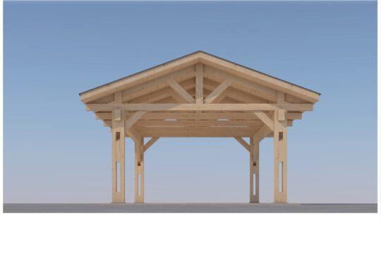 Heavy Timber Carport #NB-60 (18′ x 32′)