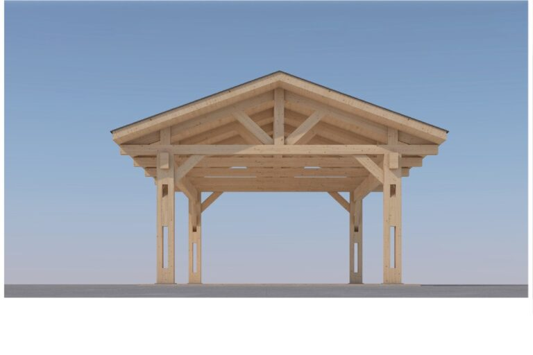 Heavy Timber Carport #NB-60 (18′ x 32′)