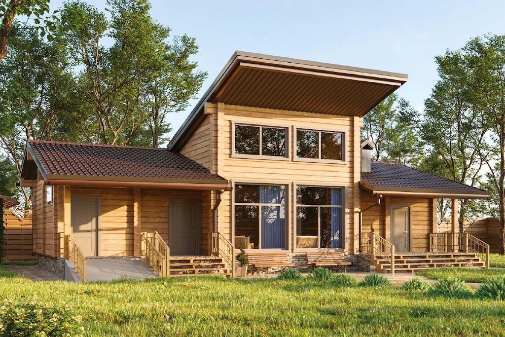 Log bath house #098