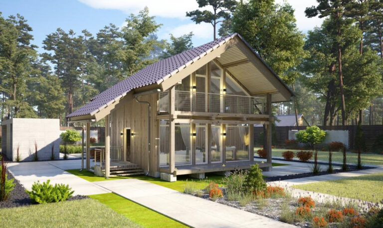 Solid Wood House #CLT-100B_Chalet