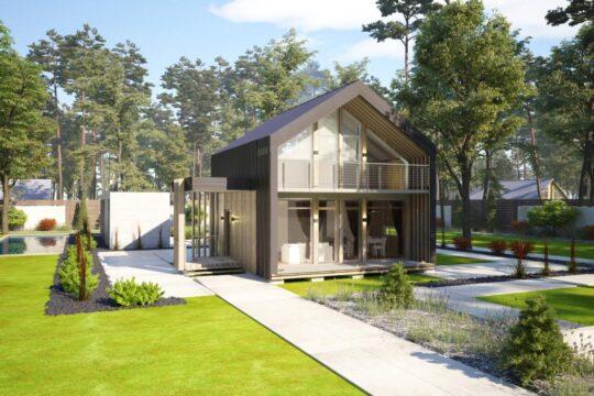 Solid Wood House #CLT-100B_Barn