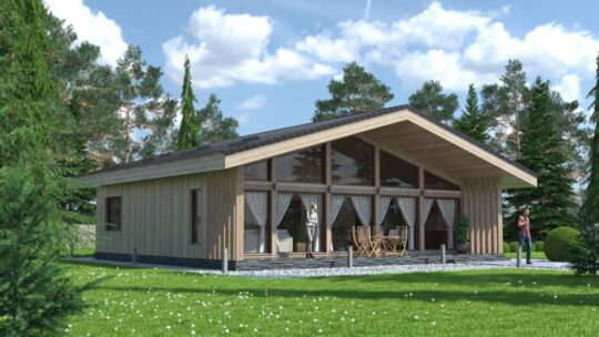 Solid Wood House #CLT-110_Chalet