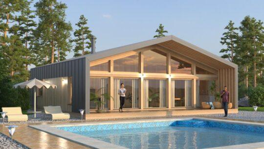 Solid Wood House #CLT-110_Barn