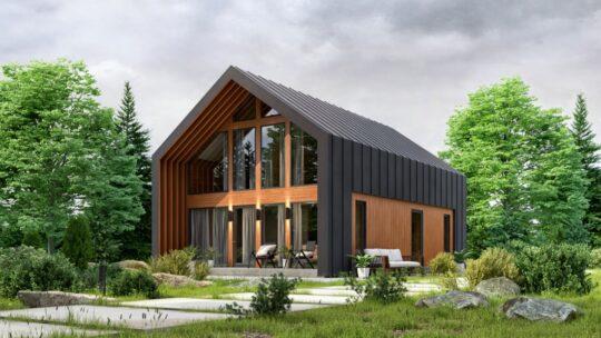 Solid Wood House  СLT #132B_Barn