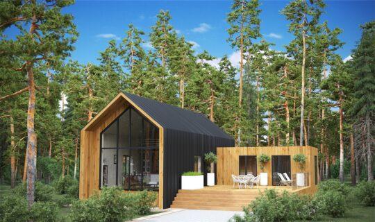 Solid Wood House #CLT-195_Barn