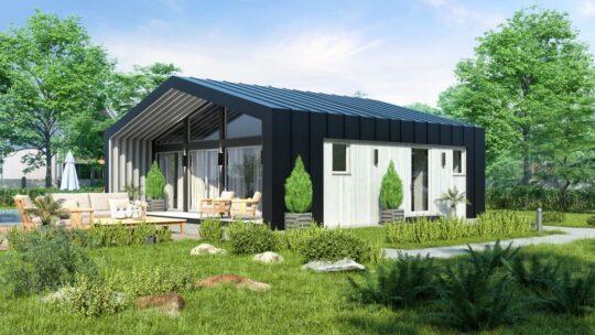 Solid Wood House #CLT-70_Barn