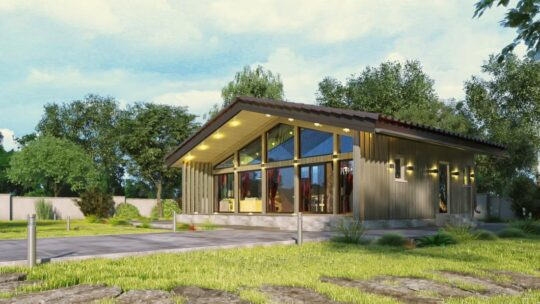 Solid Wood House #CLT-85_Chalet