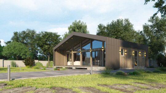 Solid Wood House #CLT-85_Barn