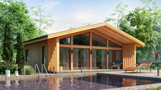 Solid Wood House #CLT-70_Chalet