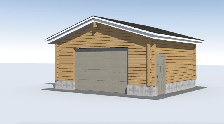 Log garage LG-46